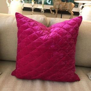 Designer Pink Velvet Pillow